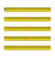 yellow measure tape flexible ruler in metal strip vector image