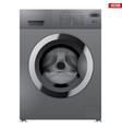 modern silver washing machine vector image