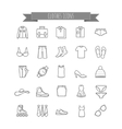 stock clothes icons vector image