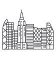 skyscrapper line icon sign vector image