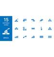 15 brick icons vector image vector image