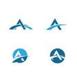 a letter bridge icon logo template vector image vector image