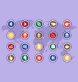 a set of icons on colored buttons part three vector image vector image