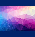 abstract purple light geometric polygonal vector image vector image
