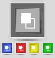 Active color toolbar icon sign on the original