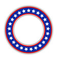 American patriotic round frame icon