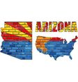 Arizona on a brick wall vector image