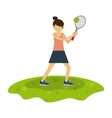 athlete avatar design vector image