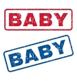 Baby Rubber Stamps vector image vector image