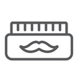barber gel line icon container and barber vector image vector image