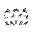 big moto set 12x vector image vector image