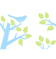 bird on tree branch vector image