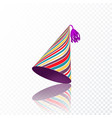 birthday hat with colorful stripes texture vector image vector image
