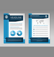 Brochure flyer design layout template A4 size vector image vector image