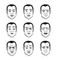 cartooning faces man vector image