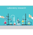Chemists scientists equipment vector image