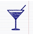 Coctail sign vector image vector image