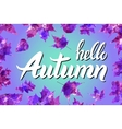 Cool fresh blue Hello Autumn design with elegant vector image vector image