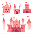 Cute cartoon medieval castle and set of towers vector image vector image