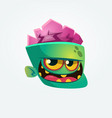 cute happy zombie head cartoon character vector image