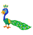 cute Peacock cartoon standing vector image vector image