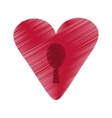 drawing heart padlock keyhole valentine vector image