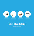 flat icon farm set of lawn mower tool flowerpot vector image vector image