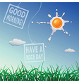 Good morning card vector image