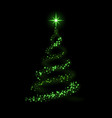 Green christmas tree happy new year background