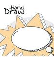 hand draw cartoons vector image vector image