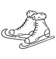 hand drawn sketch ice skates doodle element vector image