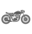 Hand Drawn Vintage Motorcycle Isolated