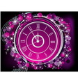 happy new year background silver and violet vector image vector image