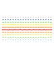 infinity shape halftone spectral grid vector image