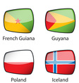 International Flags Sample vector image vector image