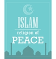 islam religion peace poster template flat vector image vector image