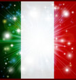 italian flag background vector image vector image