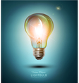 lightbulb on a blue background vector image vector image