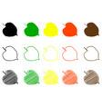 linden leaf color set vector image