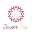 Logo Flower vector image