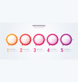 minimalistic infographic concept with 5 options vector image vector image