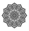 modern decorative floral color mandala vector image vector image