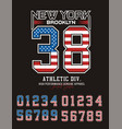 new york brooklyn 38 typography design vector image