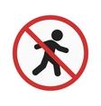 No pedestrian crossing vector image