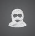 offender sketch logo doodle icon vector image vector image