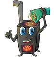 pellet stove cartoon vector image vector image