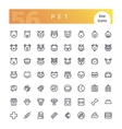 Pet Line Icons Set vector image vector image