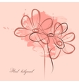 pink floral painting vector image vector image