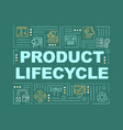 product life cycle word concepts banner