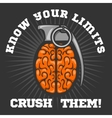 Psychological logo - Brain Grenade vector image